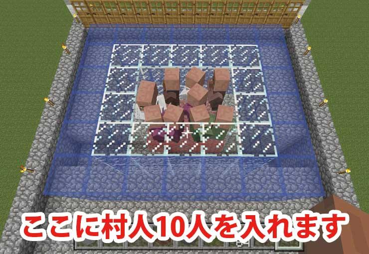 村人待機所の作成