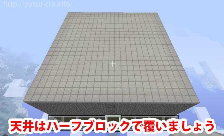 天井はハーフブロック設置