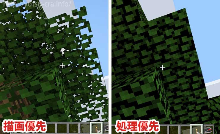 葉の透過処理