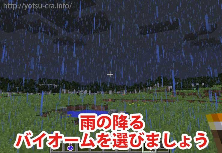 雨の降る場所を選ぶ