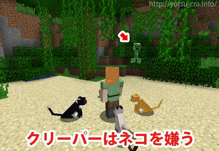 クリーパーは猫を嫌う