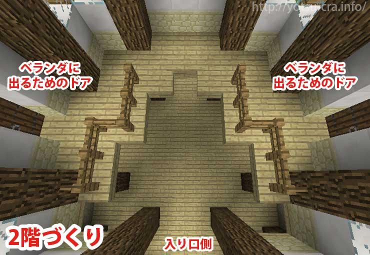 二階部分の内装作り