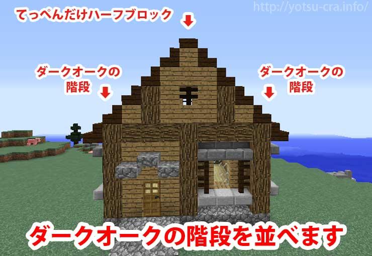 【マインクラフト】「簡単シンプルな木の家の作り方・設計図 ...