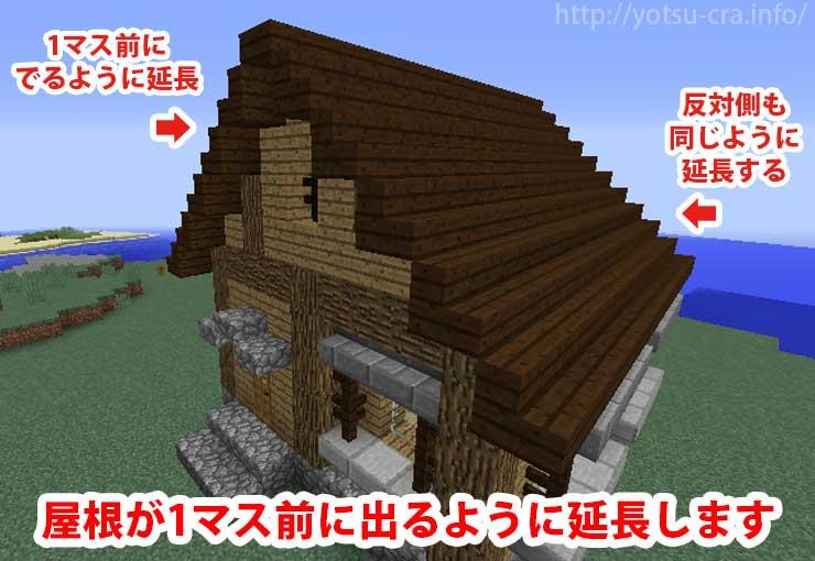 屋根の延長