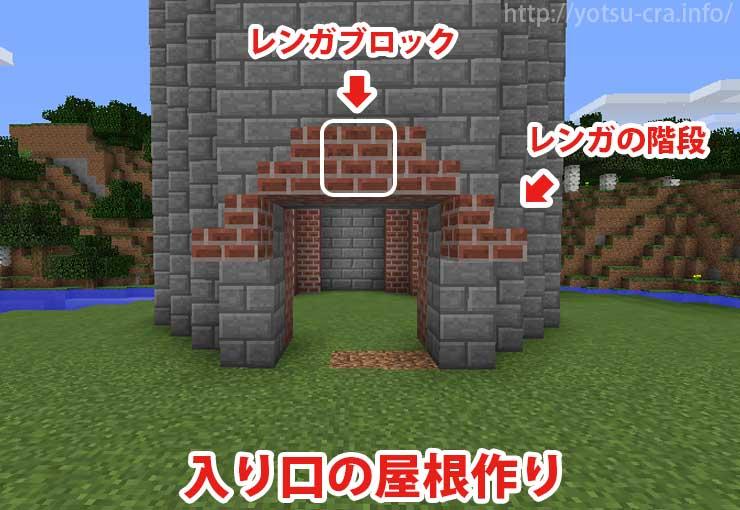 入り口の屋根作り