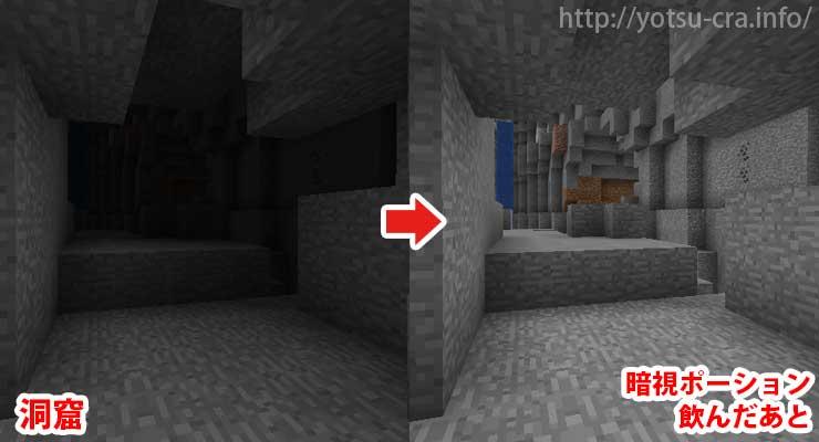 洞窟内での暗視ポーション