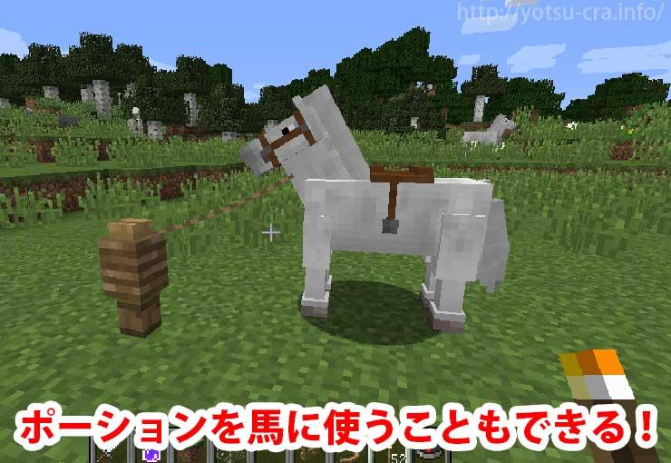ポーションを馬に使うこともできる