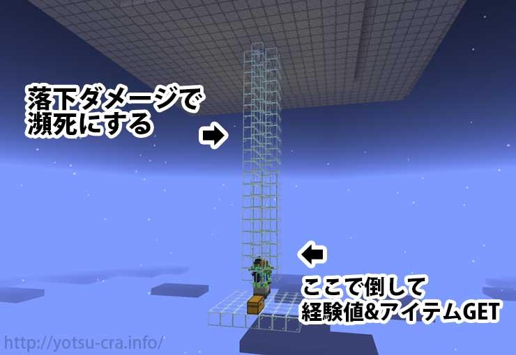 天空トラップタワー下部の様子